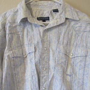 Roper Western Rodeo Pearl snap Button Up Large